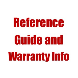 Quick Reference Guide and Warranty Info