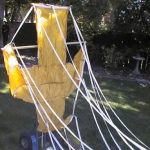 73 inch yellow X-Form parachute